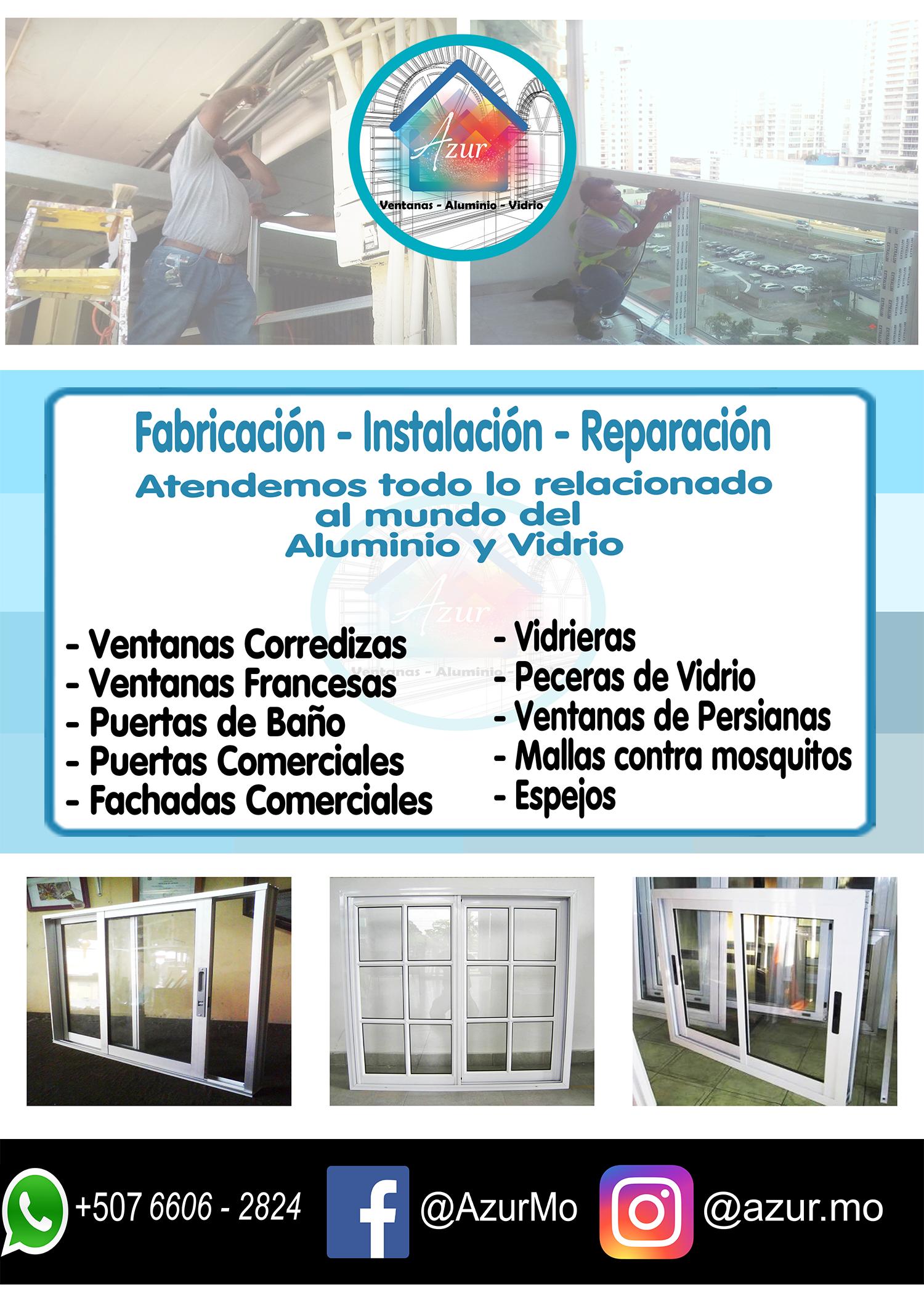 Instalacion fabricacion y reparacion de ventanas en for Reparacion de ventanas de aluminio